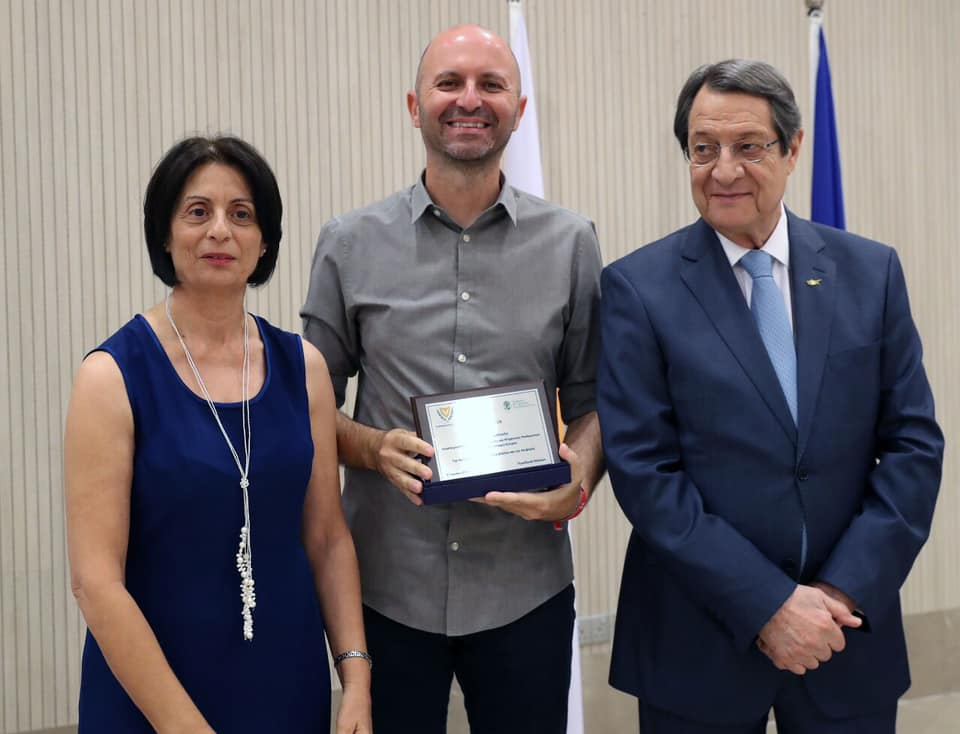 Dr. Dimopoulos receives award by the President of Cyprus